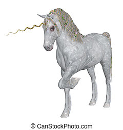 Magical Unicorn - Digitally rendered illustration of a...