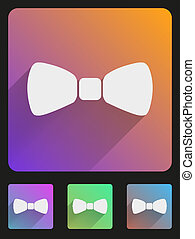 Flat icon set bow tie for Web and Application.