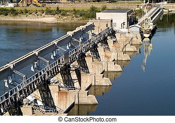 Illinois River Lock and dam