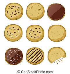set of different cookies - Set of different cookies (vector...