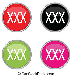 xxx icon - set of xxx icon vector illustration