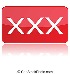 xxx icon - red xxx icon vector illustration