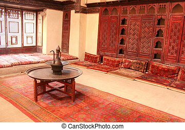 arabic house in in old islamic cairo ,egypt