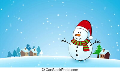 Merry Christmas Snowman card - Merry Christmas Snowman...