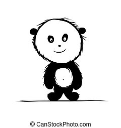 Panda bear for your design