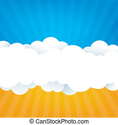 Sky With Clouds - An abstract sky design with fluffy clouds