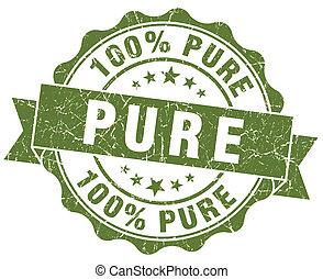 Pure grunge round green seal