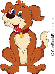 cute dog cartoon illustration
