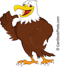 eagle cartoon thumb up illustration