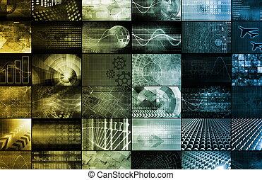 全球, 概念, 技術, 數字