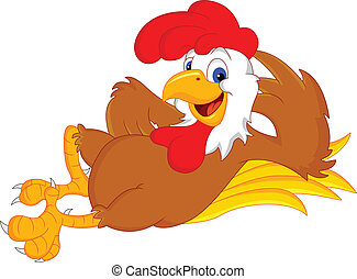 rooster cartoon - funny rooster cartoon illustration