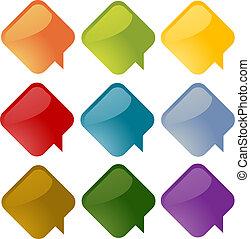 Speech bubbles - Set of speech bubble icons in multiple...