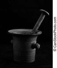 Old mortar with pestle