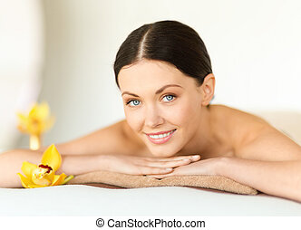 woman in spa - health and beauty, resort and relaxation...