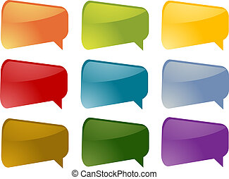 Speech bubbles - Set of speech bubble icons in multiple...