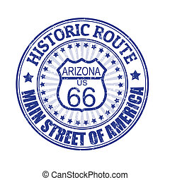 Historic Route 66, Arizona stamp