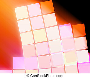 Abstract squares - Abstract wallpaper illustration of...