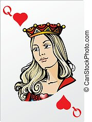 Queen of heart. Deck romantic graphics cards
