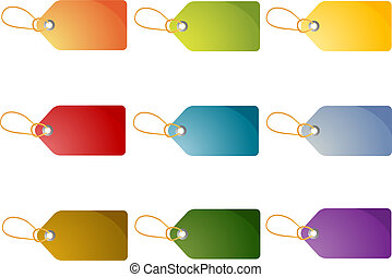 Blank price tags - Set of blank editable shop price tags