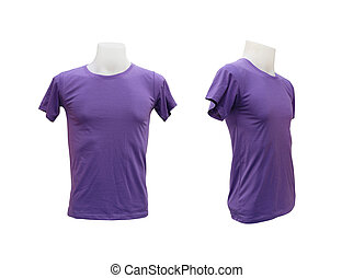 set of male tshirt template on the mannequin on white...