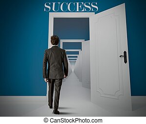 Long way to the success - Concept of long way to the success