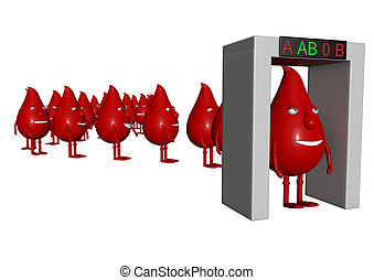 blood manikins for checking blood group under a arc