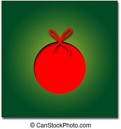Christmas ball - Graphic design - Christmas ball, red