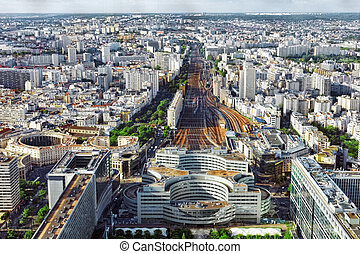 Gare Montparnasse(Railway Station)view from Tower...