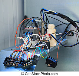 Technicians were repairing air-conditioning