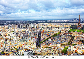 Panorama of Paris from the Montparnasse Tower France -...
