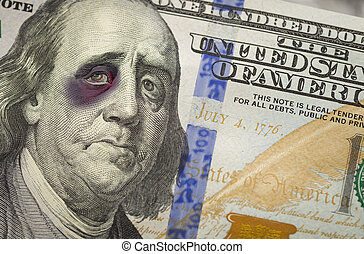 Black Eyed Ben Franklin on New One Hundred Dollar Bill -...