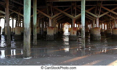Daytona Beach Florida under Pier - Daytona Beach Florida...
