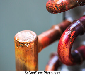 Copper tube for air conditioners