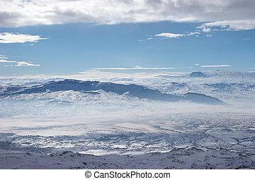 Winter mountains near Mount Ararat, Turkey
