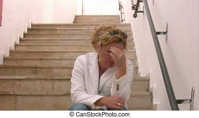 Sad woman thinking - Woman and sadness