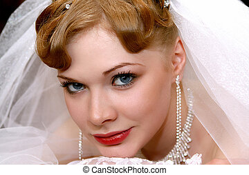 Bride portrait - Beautiful bride with red hair