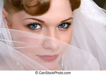 Bride - Young beautiful bride with red hair