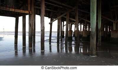Daytona Beach Florida Pier - Daytona Beach Florida Under the...