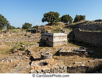 Ruins of old buildings in Troy - Ruins of the buildings in...