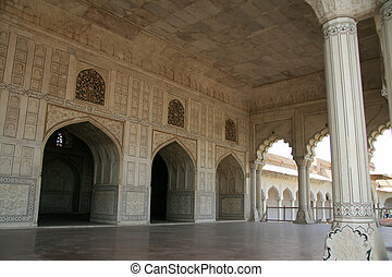 Shish Mahal (Glass Palace), Agra Fort, Agra, India