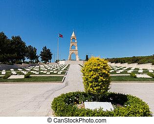 Memorial stone at Anzac Cove Gallipoli - Memorials to all...