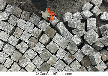 pavimentar, pedra
