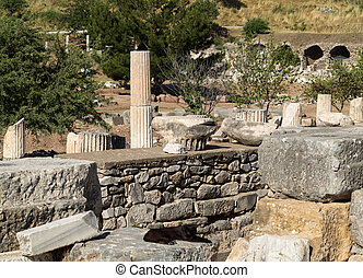Ancient ruins of old Greek city of Ephesus