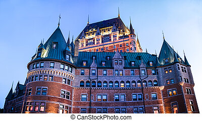 XXXL Panoramic image of the Chateau Frontenac in Quebec -...
