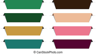 Color paper labels.