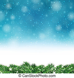 Blue christmas background - Blue christmas background with...