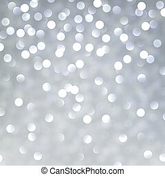 Silver christmas background - Silver defocused background...