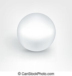 White pearl ball.