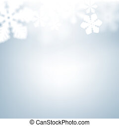 Christmas background with defocused snowflakes - Winter...