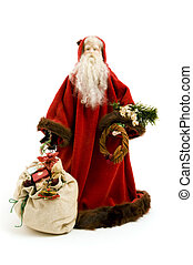 Antique Santa - Antique hand made Santa Claus ornament on...